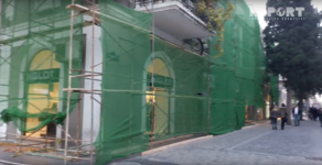 Bakının mərkəzindəki tarixi binanın restavrasiyası mağazaların işinə mane olacaqmı? -