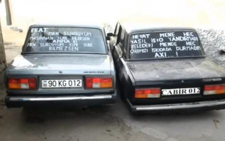 """Avtomobilində """"stiker"""" və yazılar olan sürücülərin NƏZƏRİNƏ:"""