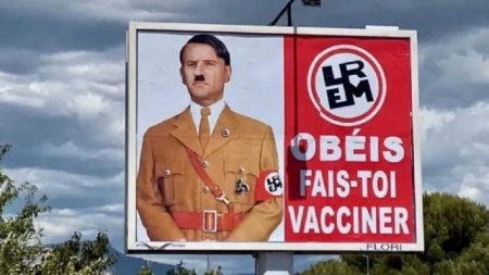 Makron onu Hitlerə bənzədən şirkəti məhkəməyə verdi